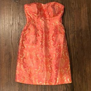 Kate Spade sweetheart neck strapless dress size 0